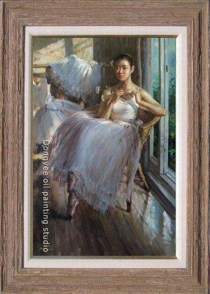 ART OIL PAINTING Charming Ballet Girl Portraits ON SALE