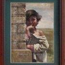 Original Oil Painting-Madagascar American Young Girl