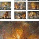 "Wholesale lots of 10 oil paintings-24""x36"" naval battle"