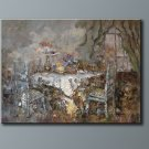"""Heavy Oil Painting Qiality Art Sale Dining-room 36""""x48"""""""