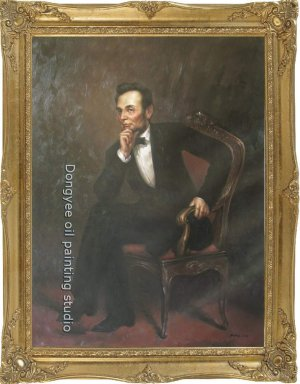 FREE SHIPPING ART Abraham Lincoln OF George P. A. Healy