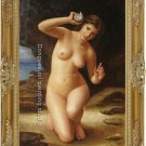 OIL ON CANVAS-William Bouguereau-Woman with Seashell