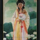 ART ORIGINAL OIL PAINTING PRINCESS OF TANG DYNASTY LADY