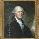 OIL PAINTING George Washington REPRO OF Gilbert Stuart