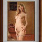 100% HAND PAINTED ORIGINAL OIL PAINTING NUDE GIRL ART