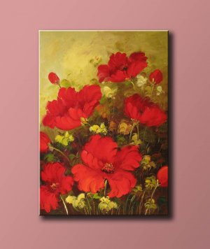 Oil Painting On Canvas Wall Art Flower Drawn By Knife