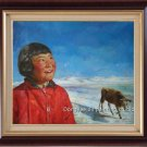 ORIGINAL OIL ON CANVAS ORIENTAL CHILDREN GIRL