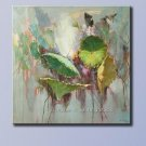 ART OIL PAINTING ON CANVAS LOTUS SERIES PAINTED&SIGNED
