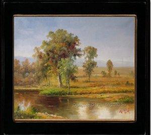 Sketchy Oil Painting Art Quality Landscape Rivulet