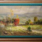 Sketchy Oil Painting On Canvas Quality Landscape Lane