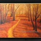 """ART SALE LANDSCAPE-OIL ON LINEN CANVAS-a woods path-48"""""""