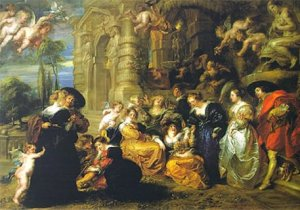 Custom oil painting-Peter Paul Rubens-Garden of Love