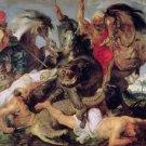 Custom-PeterPaul Rubens-Hippopotamus and Crocodile Hunt