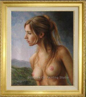 ART ORIGINAL OIL PAINTING NUDE GIRL MODEL PORTRAIT
