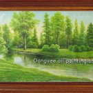 Huge oil painting landscape Bourn-Spring-FREE SHIPPING