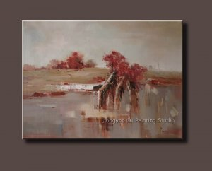 """Heavy Oil Painting Wall Art Abstract Landscape 36""""x48"""