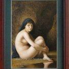 ART SALE OIL ON CANVAS Seated Bather-William Bouguereau