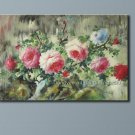 "24x36""-ART SALE ORIGINAL OIL PAINTING FLOWER PEONY"