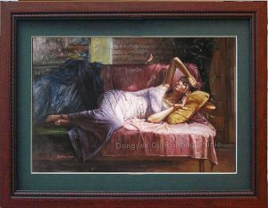 ART OIL PAINTING REPRO ORIENTAL GIRL BEAUTY FIGURES MAY