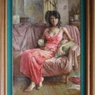 ART OIL PAINTING REPRO ORIENTAL MODEL BEAUTY FIGURES