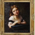 Original Art Oil Painting Portrait Preetty Young Girl