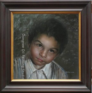 ART SALE ORIGINAL OIL ON CANVAS RUSSIAN YOUNG BOY