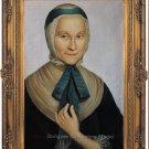 Oil Painting Edmuthe Dorothea von Zinzendorf In her 40'