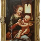 OLD MASTER-Leonardo da Vinci.Madonna Benois SIGNED ART