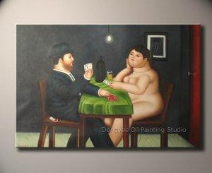 MODREN ART DECO-Fernando Botero--The Card Player 1988