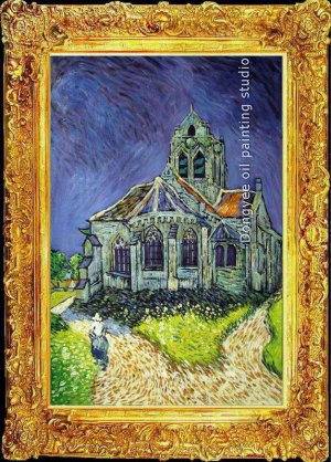 "ART OIL PAINTING repro of  VAN GOGH-the churcht-24""x36"""