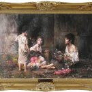 MASTER OIL PAINTING-Alexej Harlamoff-The Flower Girls