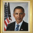 OIL PAINTING PORTRAIT OF PRESIDENT OBAMA FREE SHIPPING