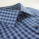 NEW CLUB ROOM DRESS SHIRT XL 17.5 34/35 Blue Checkered
