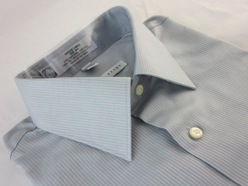NEW GEOFFREY BEENE Mens Dress Shirt M 15.5 34/35 Wrinkle Free Gray Eco NWT