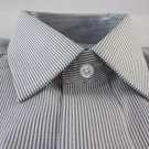 NEW CLUB ROOM DRESS SHIRT S 14.5 32/33 French Cuff Stripe Cotton Iron Free NWT