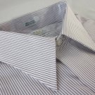 NEW EAGLE DRESS SHIRT L 16.5 34/35 Red Stripe Cotton Non-Iron Regular Fit  NWT