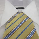 NEW GEOFFREY BEENE MENS TIE Silk Yellow Blue NWT