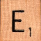 "Scrabble Letter Wood/Wooden Tile ""E"" for replacement or crafts like jewelry or decorations"
