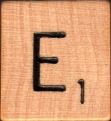 """Scrabble Letter Wood/Wooden Tile """"E"""" for replacement or crafts like jewelry or decorations"""
