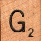 """Scrabble Letter Wood/Wooden Tile """"G"""" for replacement or crafts like jewelry or decorations"""