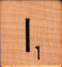 """Scrabble Letter Wood/Wooden Tile """"I"""" for replacement or crafts like jewelry or decorations"""