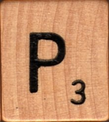 "Scrabble Letter Wood/Wooden Tile ""P"" for replacement or crafts like jewelry or decorations"