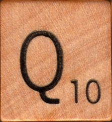 """Scrabble Letter Wood/Wooden Tile """"Q"""" for replacement or crafts like jewelry or decorations"""