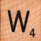 "Scrabble Letter Wood/Wooden Tile ""W"" for replacement or crafts like jewelry or decorations"