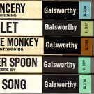 5-books John Galsworthy:In Chancery,To Let,The White Monkey-Silent Wooing,The Silver Spoon,Swan Song