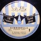 """Cinderella 78 rpm 10"""" Children's Record Guild Prokofieff - Israel Abbey VINTAGE"""