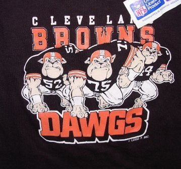 Cleveland Browns Football Dawgs T-shirt/Tee Child 2/4 NFL Official Logo7 VTG NEW FREE SHIPPING in US