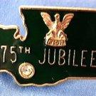Diamond Jubilee 75th Eagles FOE Lapel/Tie Pin Seattle Washington state shaped VINTAGE