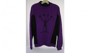 VOIT Cross Training Sweatshirt Men Purple Weight Lifter Logo Cotton NEW/NWT VINTAGE