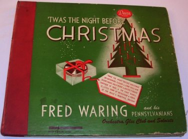 Twas' the night before Christmas Fred Waring/Bing Crosby Home/Abraham 78 RPM VTG